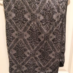 Women's black and silver fashion scarf